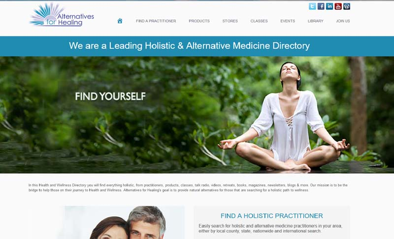 AlternativesforHealing.com, designed by Simple Website Services