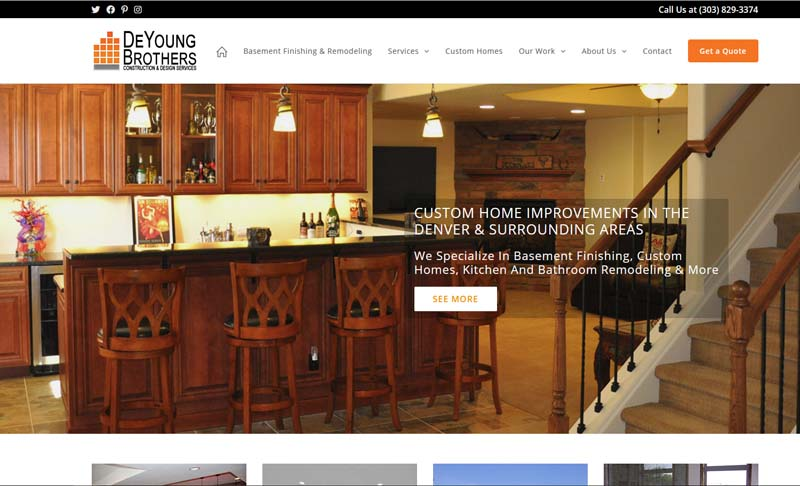 DeyoungBrothersConstruction.com, designed by Simple Website Services