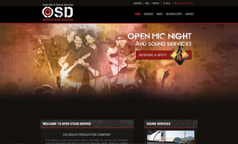 OpenStageDenver.com, designed by Simple Website Services