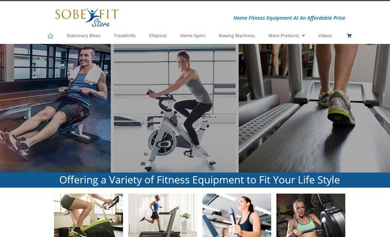 SobeFitStore.com, designed by Simple Website Services