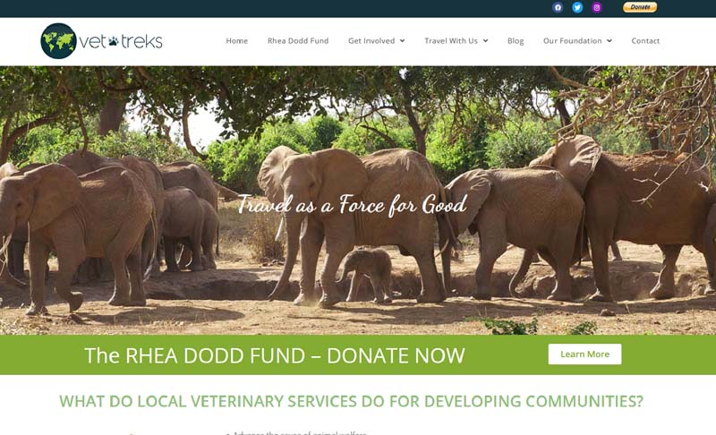 VeterinaryTreks.org, designed by Simple Website Services